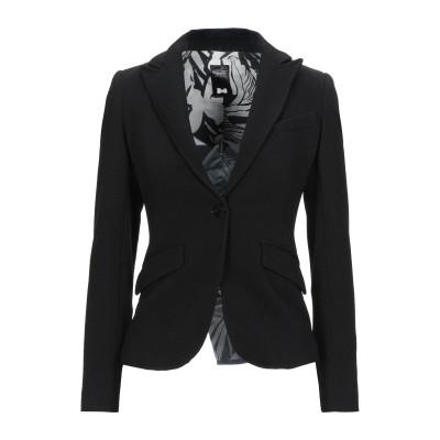 HAPPY25 テーラードジャケット ブラック 40 ポリエステル 95% / ポリウレタン 5% テーラードジャケット