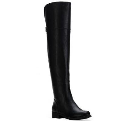 サンアンドプラスストーン レディース ブーツ&レインブーツ シューズ Allicce Wide-Calf Over-The-Knee Boots Black