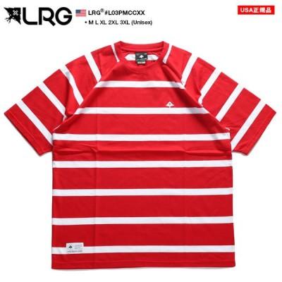 エルアールジー LRG Tシャツ 半袖 総柄 ボーダー ストライプ M L XL 2L LL 2XL 3L XXL 3XL 4L XXXL 大きいサイズ かっこいい おしゃれ ラガーシャツ ギフト
