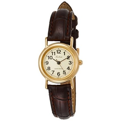 [シチズン Q&Q] 腕時計 アナログ 防水 革ベルト QA63-103 レディース ブラウン