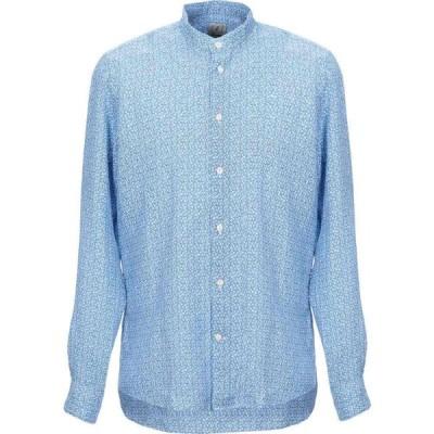 ドルモア DRUMOHR メンズ シャツ トップス linen shirt Blue