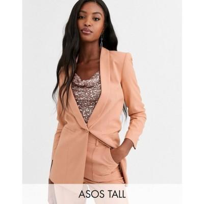 エイソス ASOS Tall レディース スーツ・ジャケット アウター asos design tall mix & match tailored suit blazer ベビーピンク