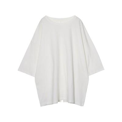 リエディ Re:EDIT USAコットンバックスリットTシャツ (オフホワイト)