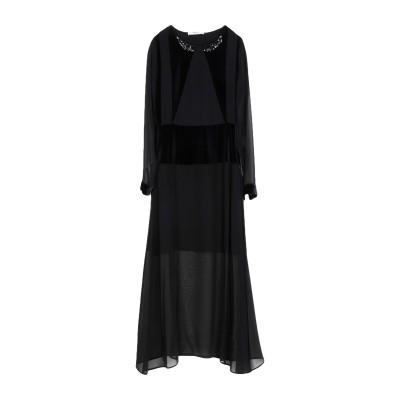ブルーガール ブルマリン BLUGIRL BLUMARINE ロングワンピース&ドレス ブラック 42 コットン 80% / ポリエステル 20%