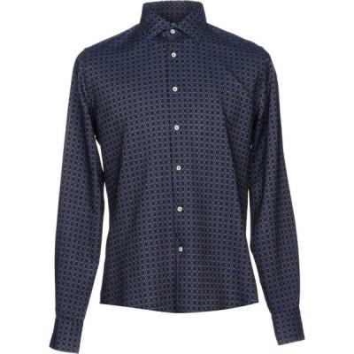 ザカス XACUS メンズ シャツ トップス patterned shirt Dark blue