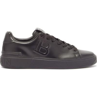 バルマン Balmain メンズ スニーカー シューズ・靴 B-Court logo-embossed leather trainers Black