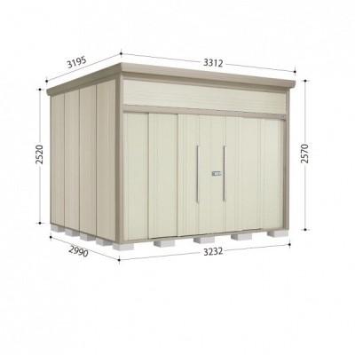 物置 屋外 おしゃれ タクボ物置 JN/トールマン JN-3229 一般型 標準屋根 『追加金額で工事可能』 ムーンホワイト
