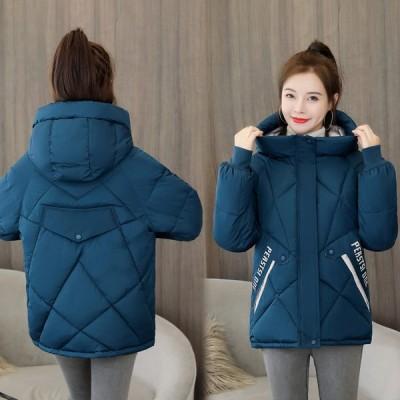 レディース ダウンコート ショートコート 暖かい 可愛い おしゃれ アウター カジュアル ダウンジャケット フード付き 中綿コート 通勤 通学 韓国風 防寒服