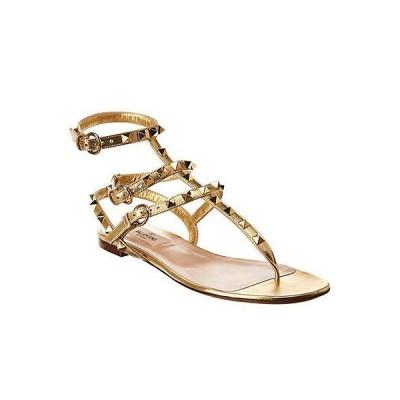 レディース シューズ  Valentino Rockstud Caged Leather Ankle Strap Sandal