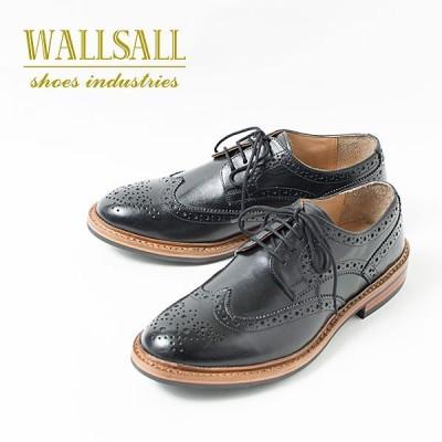 WALLSALL WING TIP FULL BROGUE ウィングチップ フルブローグ 革靴 レザーシューズ BLACK