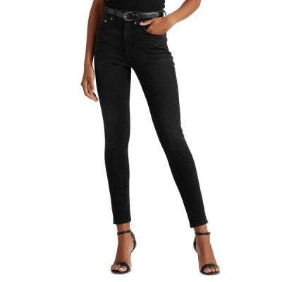 ラルフローレン デニムパンツ ボトムス レディース High-Rise Skinny Ankle Jeans Empire Black Wash