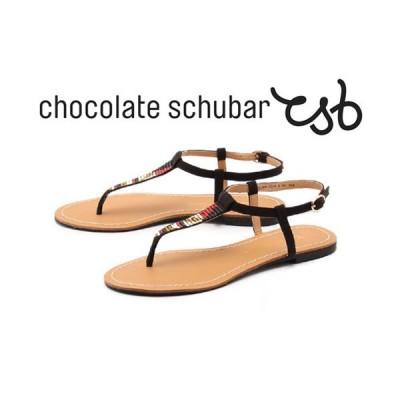 訳あり品 チョコレート シューバー トング サンダル レディース 女性用 ブラック 23.0cm 36 CHOCOLATE SCHUBAR cs002