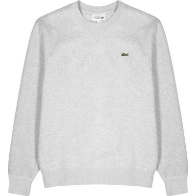 ラコステ Lacoste メンズ スウェット・トレーナー トップス light grey cotton-blend sweatshirt Grey