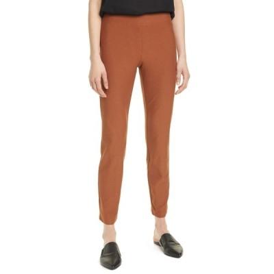 エイリーンフィッシャー レディース カジュアルパンツ ボトムス Stretch Crepe Slim Ankle Pants CINMN