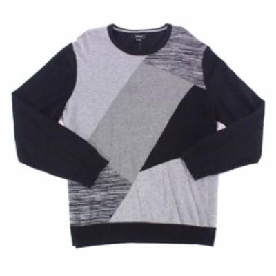 Alfani  ファッション トップス Alfani NEW Gray Mens Size XL Knit Pullover Crewneck Colorblock Sweater