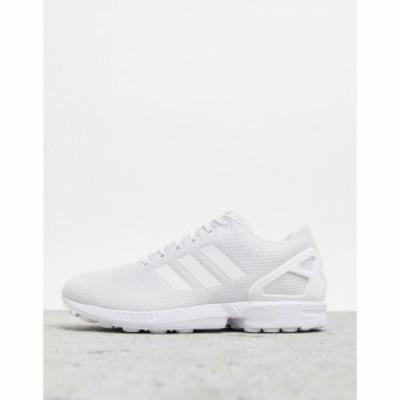 アディダス adidas Originals メンズ スニーカー シューズ・靴 Zx Flux Trainers In White ホワイト