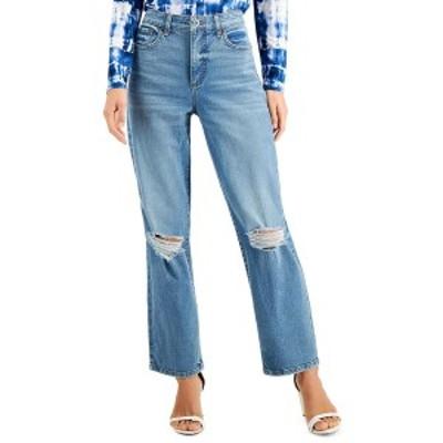 アイエヌシーインターナショナルコンセプト レディース デニムパンツ ボトムス INC Ripped Straight-Leg Jeans, Created for Macy's Kerr