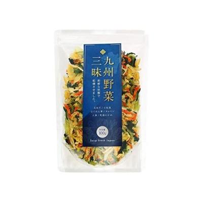 九州野菜三昧 乾燥野菜 国産 無添加 野菜5種類+わかめ ミックス 100g (1袋) 味噌汁の具 ラーメンの具 カップの具 (1袋)