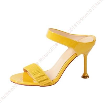 レディース サンダル ミュール ハイヒール ピンヒール サンダル 靴 サンダル ヒール 美脚 ミュール サンダル 歩きやすい 疲れない シューズ 夏  ベルト