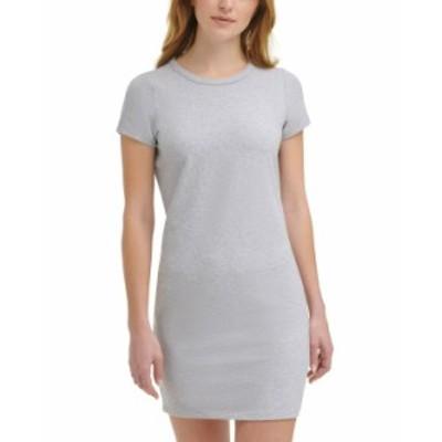 カルバンクライン レディース ワンピース トップス Crewneck Mini Dress Pearl Heather Grey