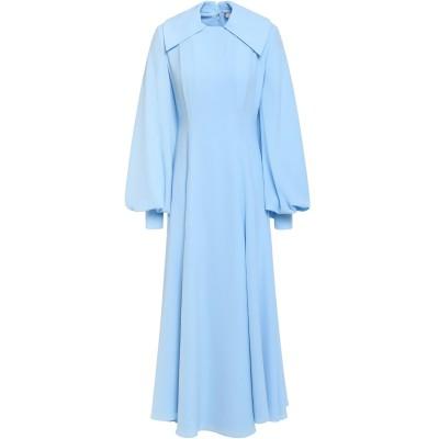 エミリア・ウィックステッド EMILIA WICKSTEAD ロングワンピース&ドレス アジュールブルー 14 ポリエステル 96% / ポリウレタ
