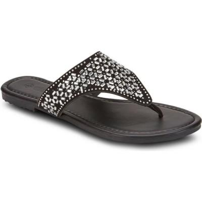 オリビアミラー Olivia Miller レディース サンダル・ミュール シューズ・靴 Show Stopper Embellished Sandals Black