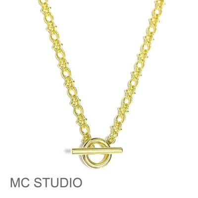 ≪MC STUDIO≫ エムシースタジオ ヴィンテージ デザイン チェーン マンテル ゴールド ネックレス Vintage Style Chain Necklace (Gold)