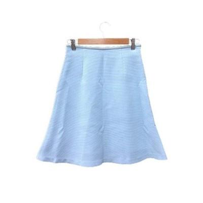 【中古】アナディス dun a dix フレアスカート ひざ丈 36 青 ブルー 水色 /YK レディース 【ベクトル 古着】