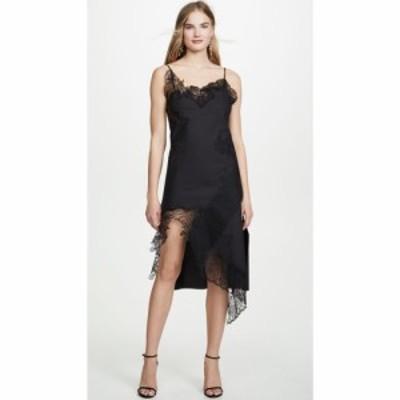 マルケス アルメイダ Marques Almeida レディース ワンピース スリップドレス ワンピース・ドレス Lace Neckline Slip Dress Black