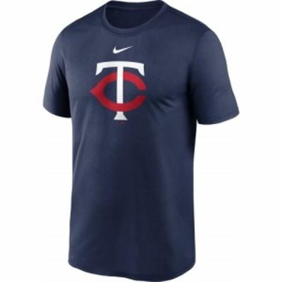 ナイキ Nike メンズ Tシャツ ドライフィット トップス Minnesota Twins Navy Large Logo Legend Dri-FIT T-Shirt