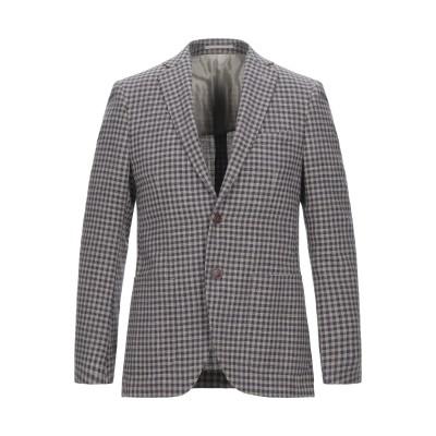 DUCA VISCONTI DI MODRONE テーラードジャケット ブラウン 48 コットン 47% / ポリエステル 29% / バージンウー