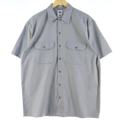 ディッキーズ Dickies 半袖 ワークシャツ メンズL /eaa034538