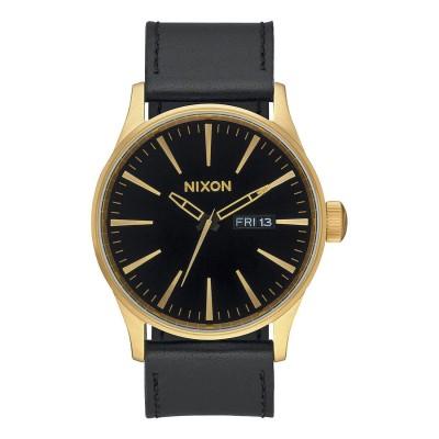 ニクソン NIXON Sentry Leather (Gold / Black)