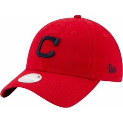 ニューエラ レディース 帽子 アクセサリー New Era Women's Cleveland Indians Red Core Classic 9Twenty Adjustable Hat -