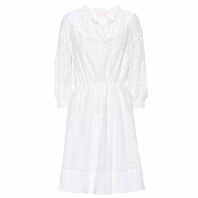 クロエ See By Chloe レディース ワンピース ワンピース・ドレス broderie anglaise cotton dress Blanc