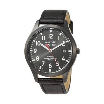 セイコーウォッチ 腕時計 マッキントッシュフィロソフィー TROTTERシリーズ チタンモデル ブラック文字盤 ブラックカーフバンド FCZ