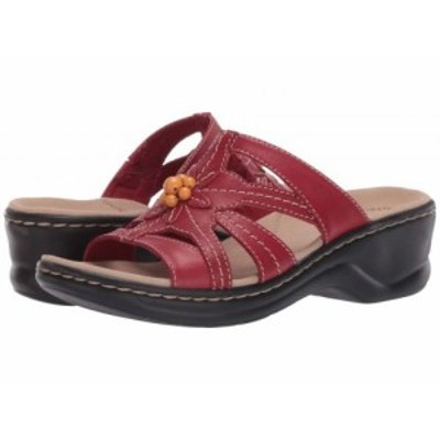 Clarks クラークス レディース 女性用 シューズ 靴 ヒール Lexi Myrtle 2 Red Leather【送料無料】