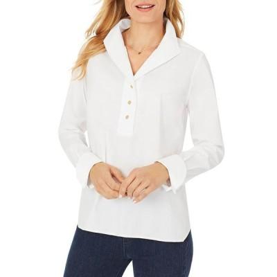 フォックスクラフト レディース シャツ トップス Evelina Non-Iron Popover Shirt