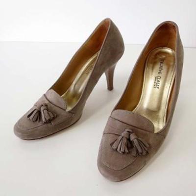 【中古】ドゥーズィエムクラス DEUXIEME CLASSE パンプス ハイヒール スエード レザー 38 グレージュ 24.0cm くつ 靴