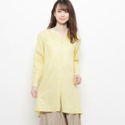 エッシュ(esche)/麻混ボタンデザインシャツ