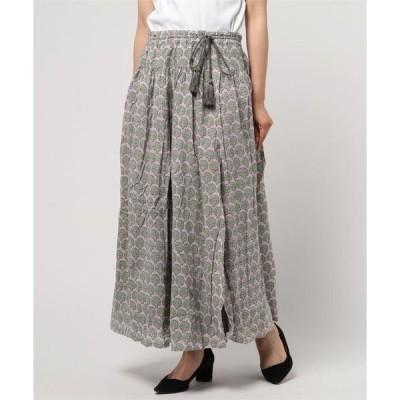 スカート 【Le Melange】リバーシブルプリントスカート