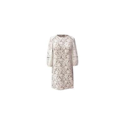 ヴィンスカムート ワンピース トップス レディース Petite Lace Shift Dress Ivory