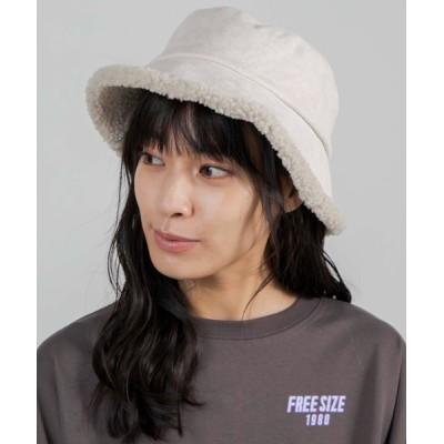 WEGO / WEGO/リバーシブルファーボアバケットハット WOMEN 帽子 > ハット