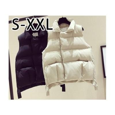 中綿ベスト レディース アウター ダウンベスト ポケット付き 秋冬服 軽量 あったか 防風 防寒 ジャケット