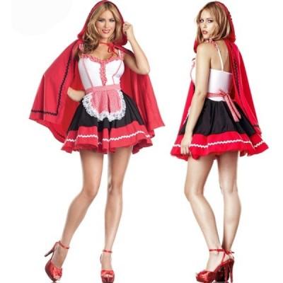 ハロウィン クリスマス コスプレ衣装 ドレス 仮装 大人用  赤ずきん風 ダンス衣装 イベント用 コスチューム レディース パーティー イベント おしゃれ