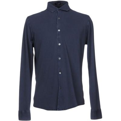 ドルモア DRUMOHR シャツ ブルー S 100% コットン シャツ