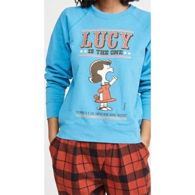 (取寄)マークジェイコブス ピーナッツ x MJ ザ スウェットシャツ The Marc Jacobs Peanuts x MJ The Sweatshirt WashedBlue