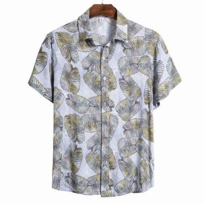 夏ハワイアン男性のシャツエスニック半袖シャツ男性ドレスシュミーズオムカジュアルトップス blusa