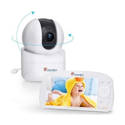 ベビーモニター 100万画素 5.5インチ 専用モニター付き 子守唄搭載 授乳タイマー 屋内カメラ ネット不要 設定不要 ナイトモード搭載 会話可能 温度
