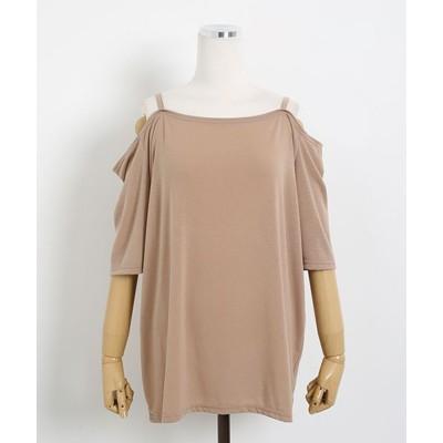 (sonyunara/ソニョナラ)SONYUNARA(ソニョナラ)肩見せTシャツ/レディース ベージュ